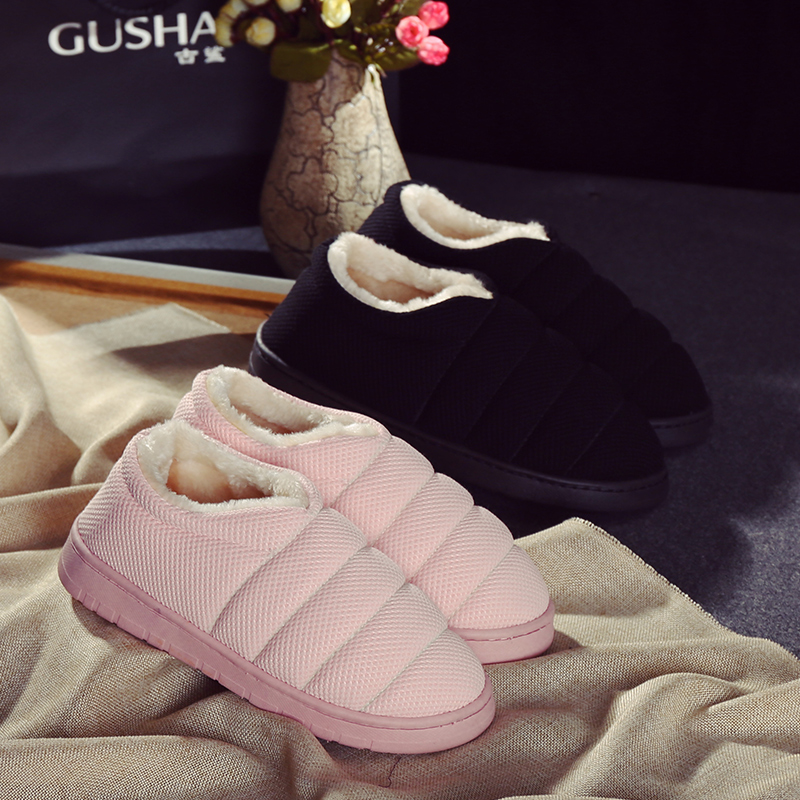 Autumn and winter season in the winter with all Home Furnishing cotton slippers lovers slip warm shoes bag feet and Maomao shoes пена монтажная mastertex all season 750 pro всесезонная