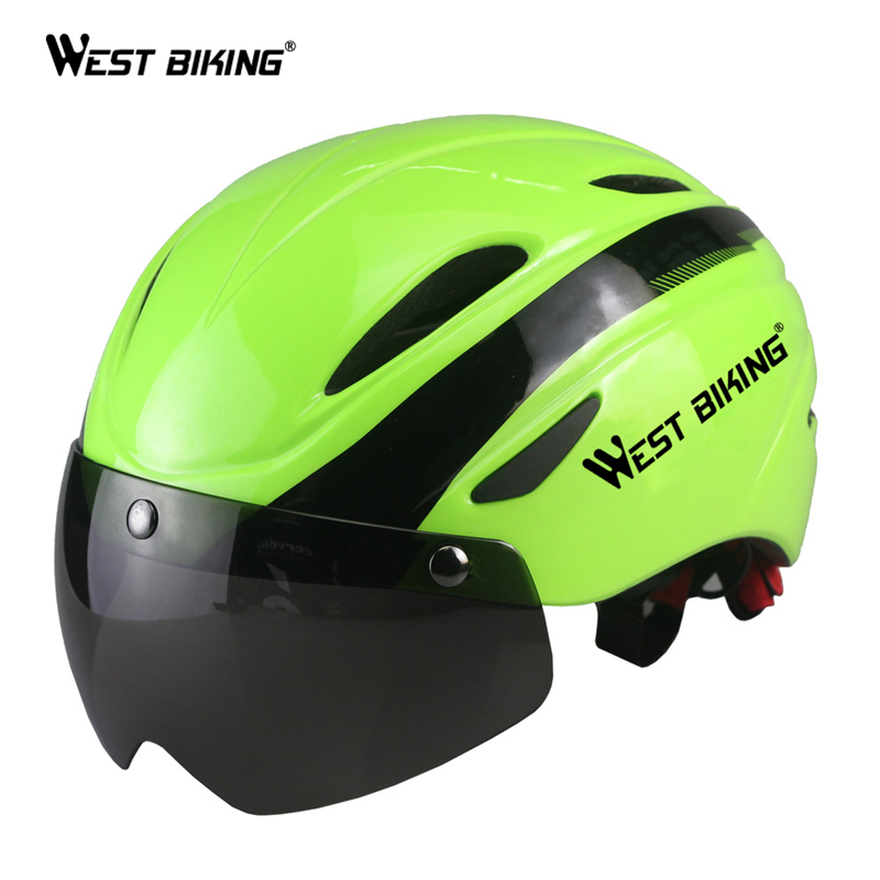WEST BIKING Bicycle Helmet Bicicleta Mountain Riding Helmet Integrally Molded Bike Helmet Cycling EPS Breathable Bicycle Helmets universal bike bicycle motorcycle helmet mount accessories