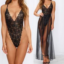 New Womens Sexy Lace  Nightwear Underwear Robe Babydoll Sleepwear Dress