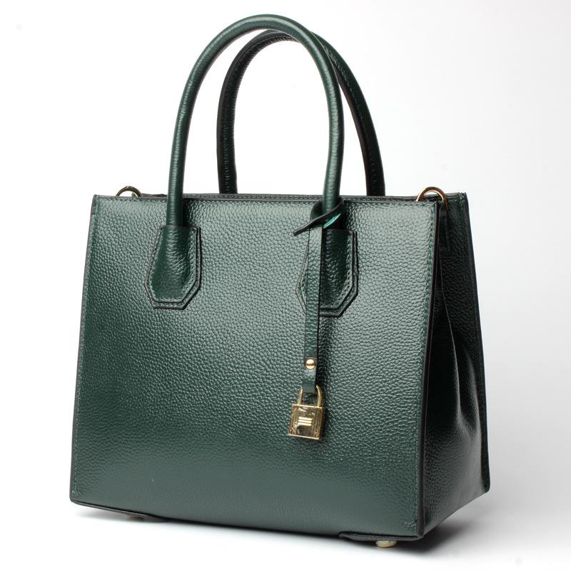 L6148 Wholesale 2017 European and American fashion Top layer Cowhide Shoulder Bag Leather ladies handbags