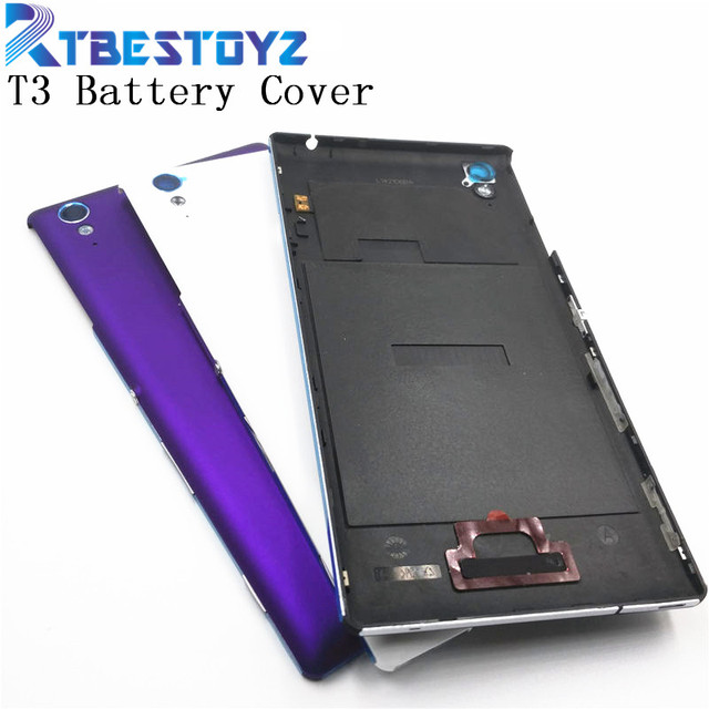 half off aee55 fdaaf US $8.1  RTBESTOYZ Battery Cover For Sony Xperia T3 D5102 D5103 D5106 M50W  Rear Battery Door Back Cover Housing With NFC-in Mobile Phone Housings from  ...