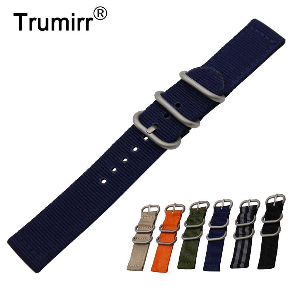 18mm 20mm Nylon Watch Band + Tool for DW Daniel Wellington Zulu Fabric Strap Wrist Belt Bracelet Black Blue Brown Green Orange