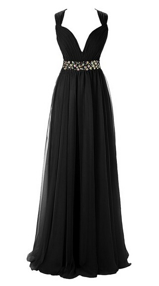 2016 New design Sleeveless crystal Floor length Rushed Draped Chiffon A Line Prom Gown font b