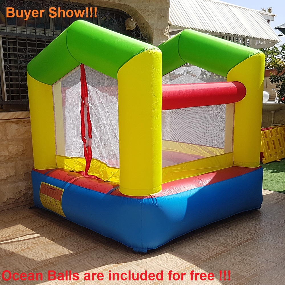 YARD Jumping Jumper Inflatable Bouncing Castle Bouncy Castle Bouncer Inflatable Castle Kids Baby Toys with Free Blower yard free shipping sea world bouncy castle mini inflatable bouncer with slide for kids play