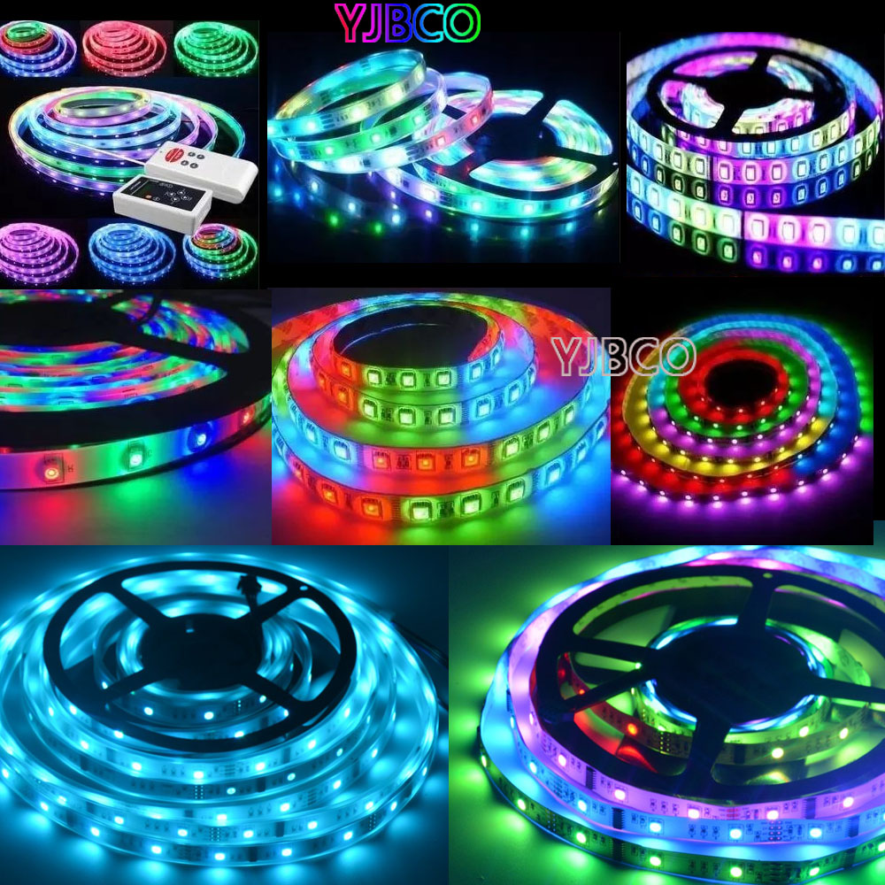 5M LPD6803 Dream color 150leds IP30/IP65/IP67 LED 5050 RGB Car Ligh Strip t+133 Change RF Controller +12V 5A power ...