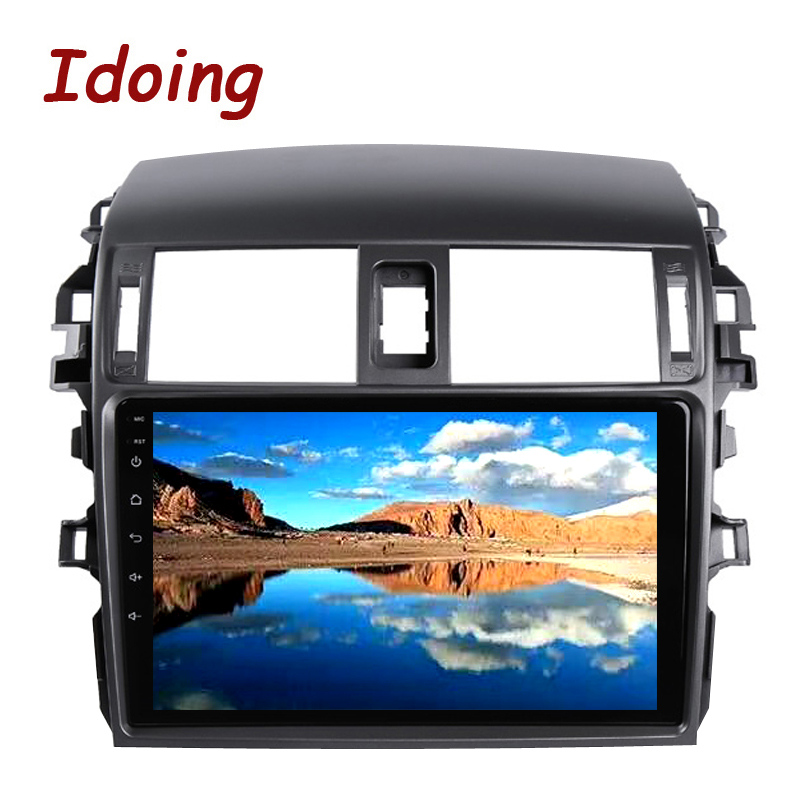 "Cheap Idoing 9""Car Multimedia Video Player Navigation GPS Android8.1For Toyota Corolla E150 140 2008-2013 Navigation Radio NO 2DIN DVD 2"