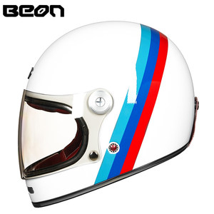 Image 1 - BEON full face glassfiber motocross helmet beon B510 vintage motorcycle professional retro Helmets ECE certification