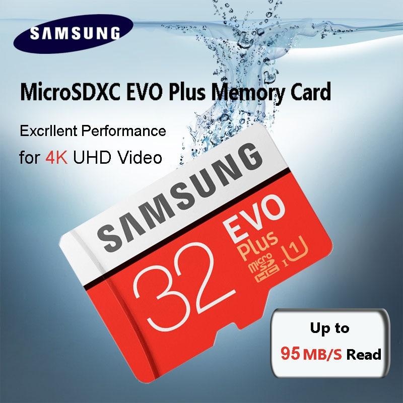 Free Shipping SAMSUNG Memory Card EVO Plus 32GB Class10 TF Card 32 G Micro SD card C10 microSDHC microSD UHS-I U3 samsung micro sd memory card 32gb microsd 128gb class 10 microsdhc sdxc uhs i transflash u3 100% real brand evo plus new arrive