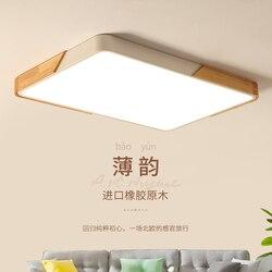 Ultra cienkie doprowadziły drewna oświetlenie sufitowe pokój dzienny do sali nowoczesne AC 90 260 V lampa sufitowa led sypialnia w Oświetlenie sufitowe od Lampy i oświetlenie na