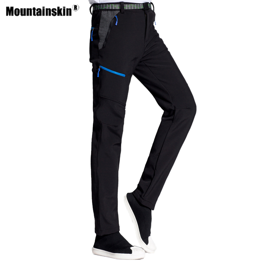 Mountainskin Men's Women's Winter Softshell Fleece Hiking Pants Outdoor Windproof Thermal Camping Trekking Sports Trousers VA459