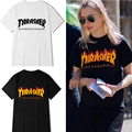 VESONAL 2017 Summer Men Tshirt O-Neck Streetwear Blaze Thrasher T Shirts Women Flame Skateboard Hip Hop T Shirt men Top Trasher