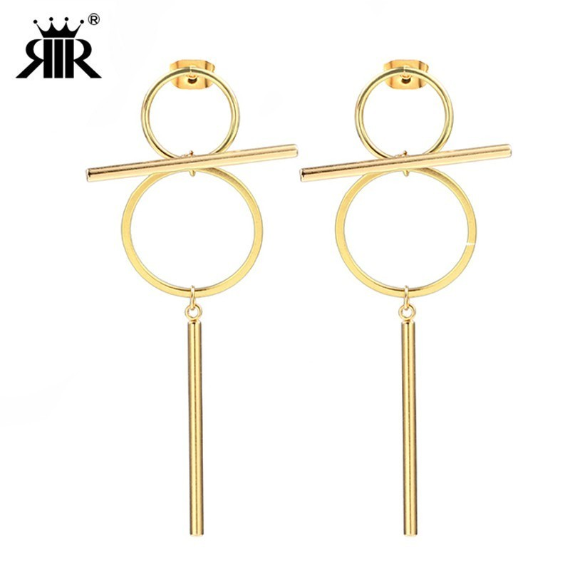 RIR Long Bar Dangle Gold Silver Bar Drop Earrings Gold 8 Infinity Earrings Wire Earrings Thread Earrings In Stainless