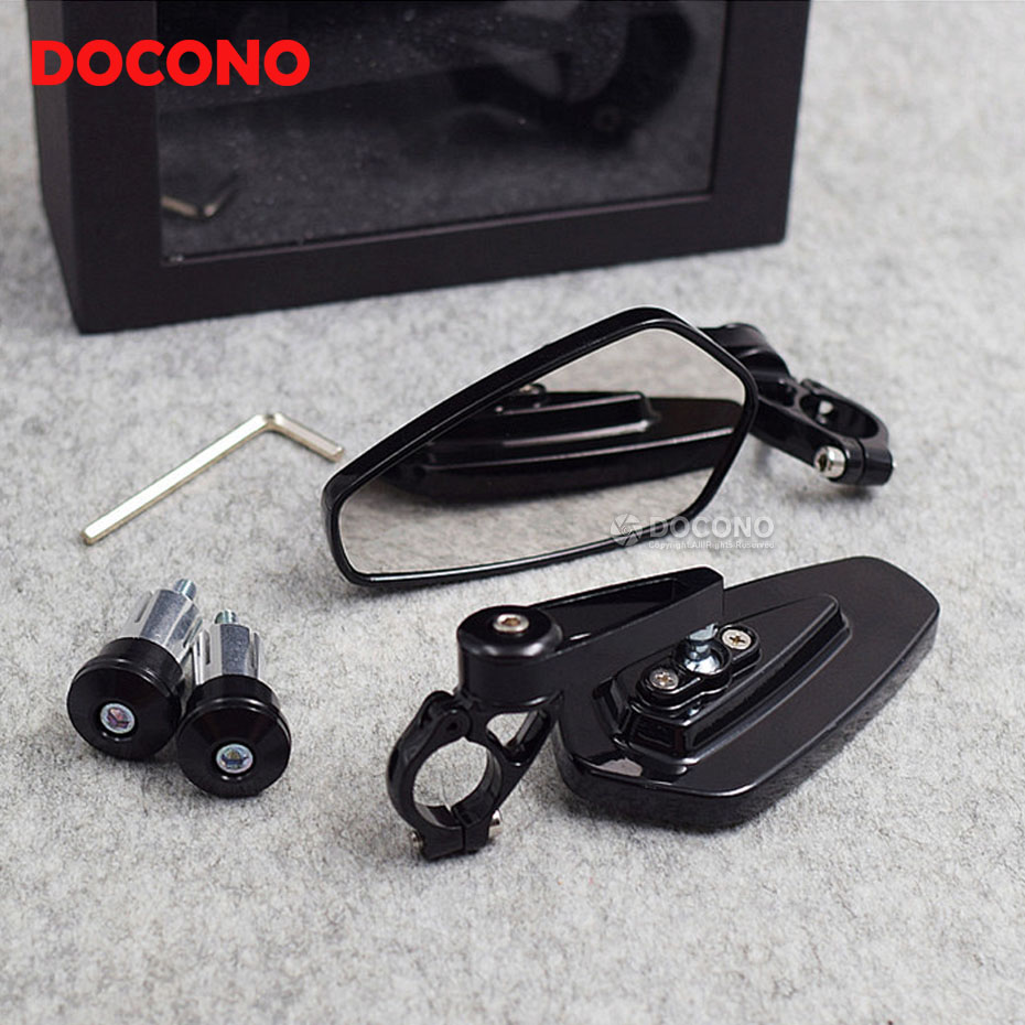 Motorcycle 7/8 22mm handlebar end side rearview mirror For yamaha fz6 r6 fz1 r1 r25 xj6 xjr 1300 fz8 SJ6N XJ6 FZ6 SJ6S FZ6S