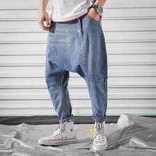 Мужские джинсы мешковатые джинсовые штаны-шаровары классический стиль джинсы с заниженным шаговым швом хип-хоп брюки для уличных танцев размера плюс джоггеры размера плюс 5XL