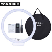 YongNuo YN308 Selfie Ring LED Light 3200K 5500K Bi Color Temperature LED Video Light Wireless Remote