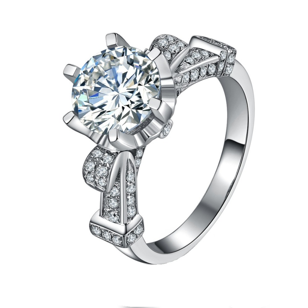 Us 539 5 50 Off Test Positive Super Luxury Moissanite Jewelry 3ct Synthetic Diamonds Ring Engagement Sterling Silver 925 In