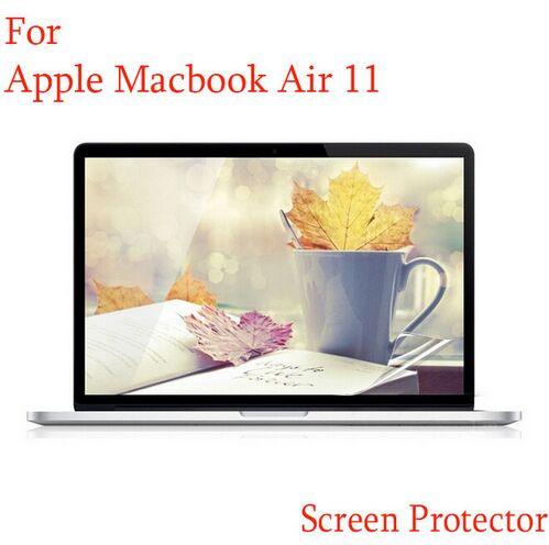 HRH 100PCS LCD Screen Protector Guard Cover Skin For Apple Macbook Air 11 11.6 A1465 A13 ...