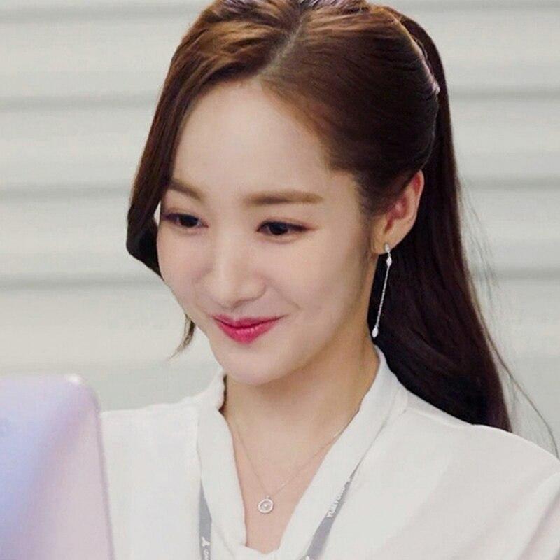2019 Korean Fashion Water Drop Crystal Tassel Long Earrings For Women Girls Elegant CZ Zircon Star Earrings Wedding Jewelry