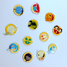 Creative cartoon Animals Prairies figure icon badge clothing acrylic badge scarf pin brooch backpack home decor pin badges