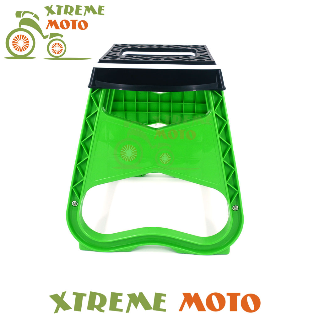 Green Steel Engineering Grade Plastic Motorcycle Motocross Stand ...