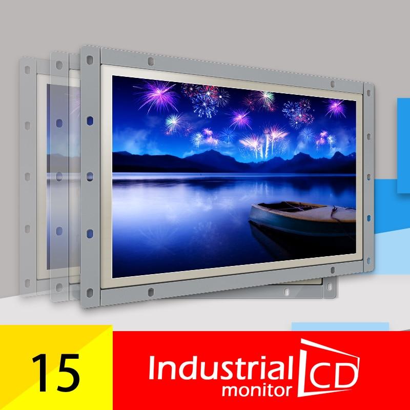 15 polegada industrial desktop computadores display lcd usb touchscreen monitores industriais painel da tela de toque 1024*768