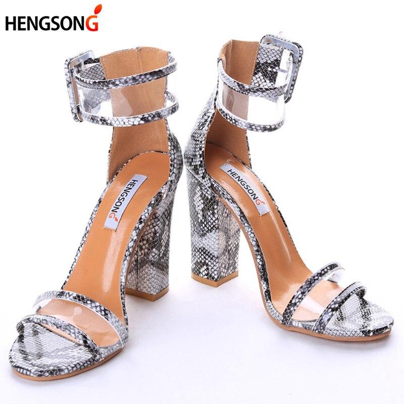 Super Zapatos de Tacón Alto de Las Mujeres Bombas Sexy Claro Transparente Correa