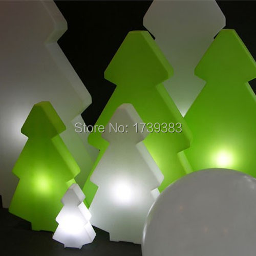 5 pieces/lot Rechargeable glowing Led Christmas lightree lamp of mountain pine tree light for Christmas& Exhibition Decoration 65cm 18cm 110cm led christmas tree lamp