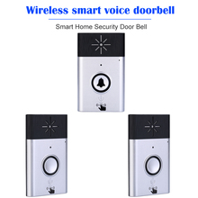 אלחוטי קול אינטרקום פעמון 2 דרך לדבר צג חכם אבטחת בית דלת פעמון