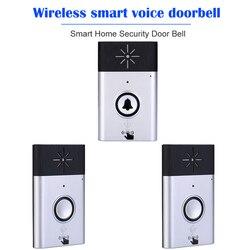 Intercomunicador Campainha sem fio de Voz 2-way Conversa Monitor com Botão 1 1 * Unidade Exterior * Interior Receptor Inteligente campainha Da Porta de Segurança em casa