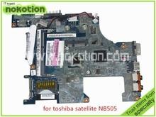laptop motherboard for toshiba satellite NB500 NB505 LA-6851P REV 1.0 K000114320 N550 DDR3
