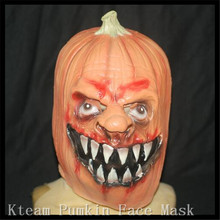 Halloween Party Cosplay Creepy Costume Party Full Head pumpkin head latex mask excellent design halloween theme Mask in stock