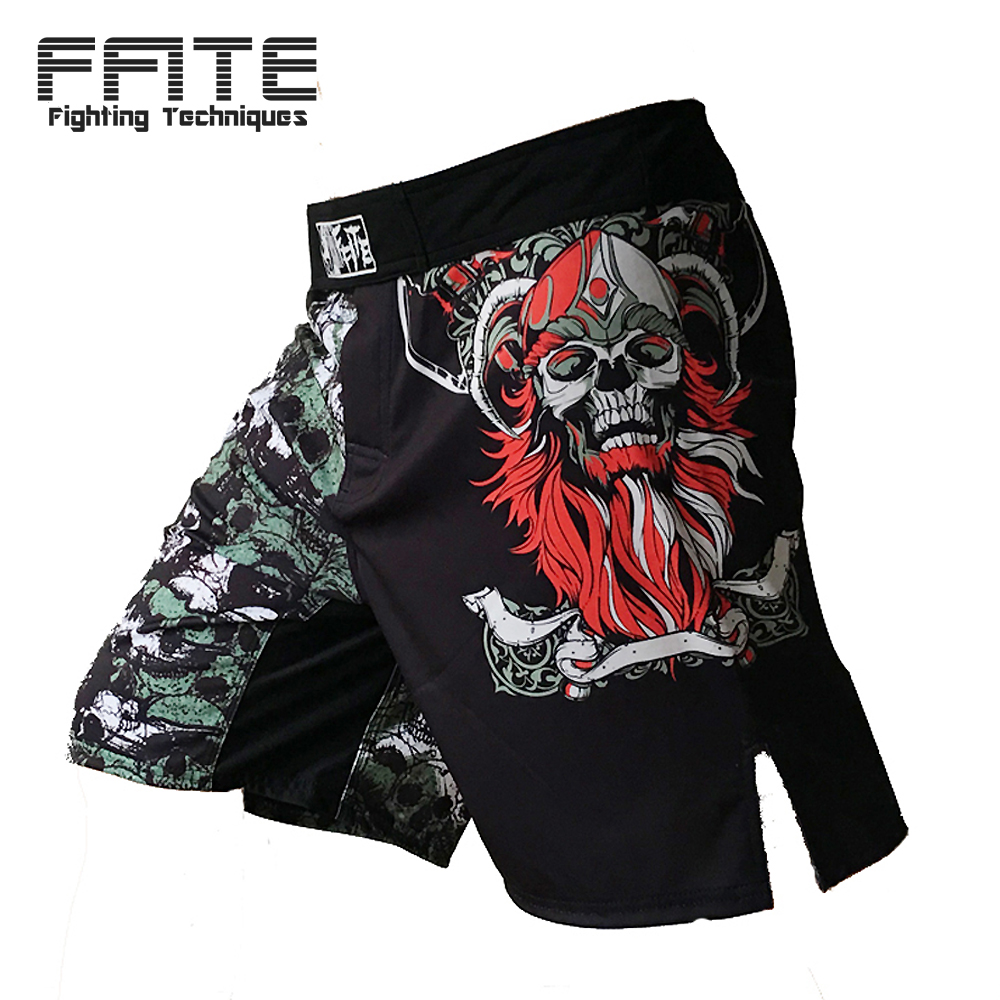 FFITE cheap MMA Shorts Men's boxing pants Fight Short Skull grappling sanda Boxing Muay Thai Pants thai boxing shorts mma sport