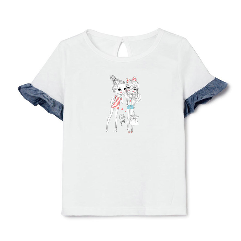 Cute Girl Heat Transfer Patches 13 21cm A level Washable Ironing Stickers For Clothing Girls T Shirt Dresses Heat Press Applique in Patches from Home Garden