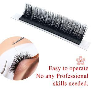 Image 2 - NAGARAKU Eyelashes Makeup Autofans Eyelash Easy Fanning  Lashes mega volume Fan Russian Volume Two tone Lashes Faux Cils