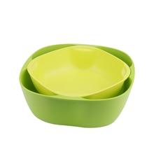 2pcs Combination Fruits Bowl Set for Fruits Nuts Candies Salad Kitchen Tools