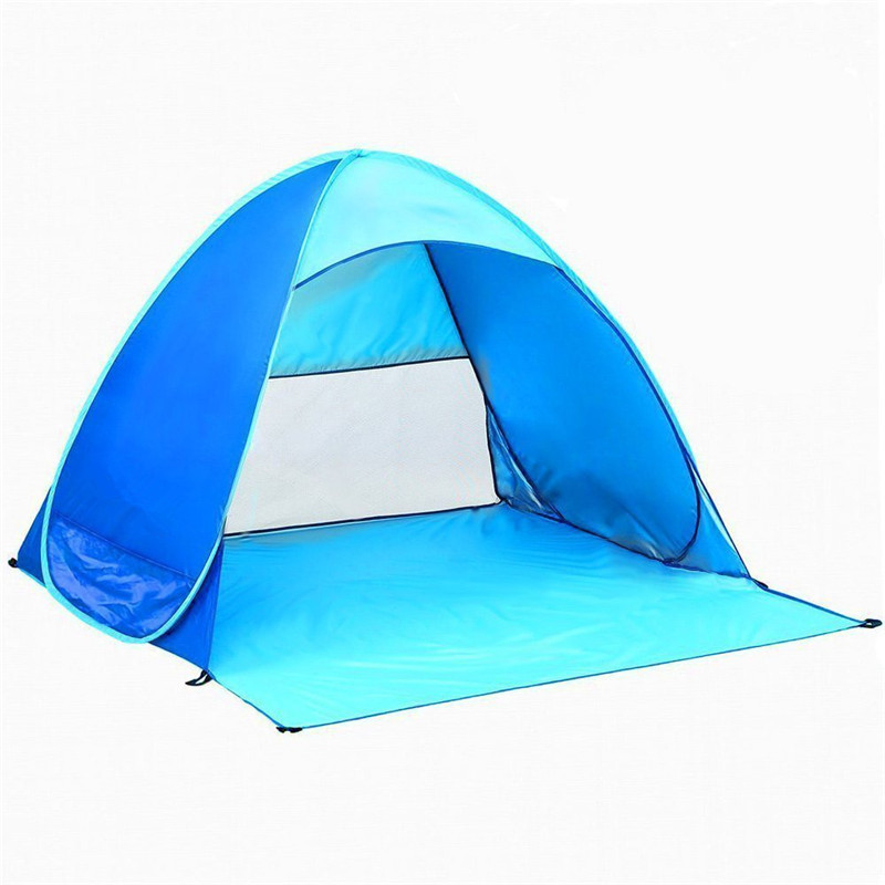 Collapsible Quick Automatic Opening Tents Outdoor Camping 2 Person Ultralight Fishing Beach Tent Hiking Beach Summer Sun Tent image
