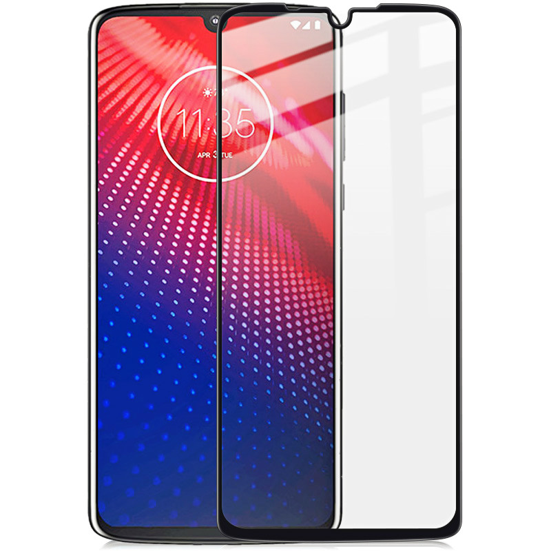 Image 2 - for moto z4 Glass IMAK Full Coverage Screen Film For Motorola Moto Z4 Full Screen Protector moto z4 9H Full Glue Tempered Glass-in Phone Screen Protectors from Cellphones & Telecommunications