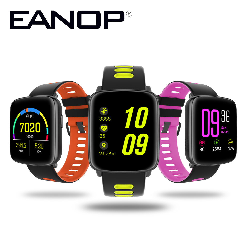 EANOP Bluetooth Smart Watch Phone Waterproof Smartwatch Support Anti Lost Speed   Monitor Heart rate Monitoring for IOS Android bluetooth smart watch heart rate monitoring g3 plus smartwatch support siri voice control raise bright screen for android ios