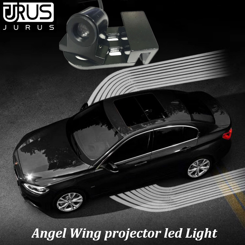 JURUS 2Pcs Angel Wings Led Lights Logo Projector Car Led Welcome Light Shadow Courtesy Door Warning Lamp For Cars and Motorcycle цена