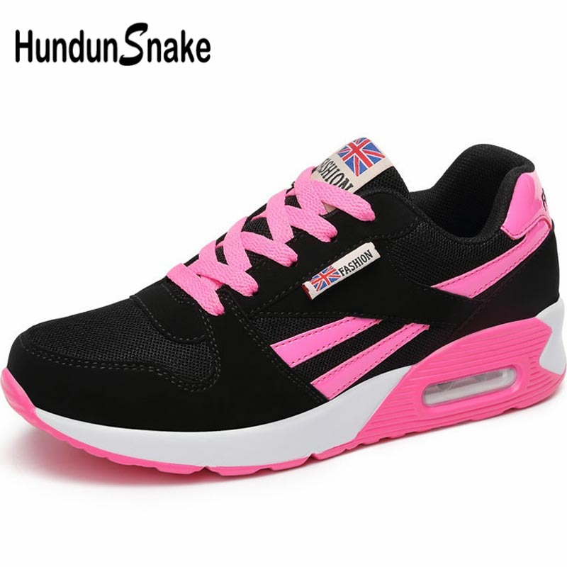 Hundunsnake Breathable Shoes Sport Women Sneakers Women Running Shoes For Women Athletic Shoes Sports Summer Tennis Black A-048
