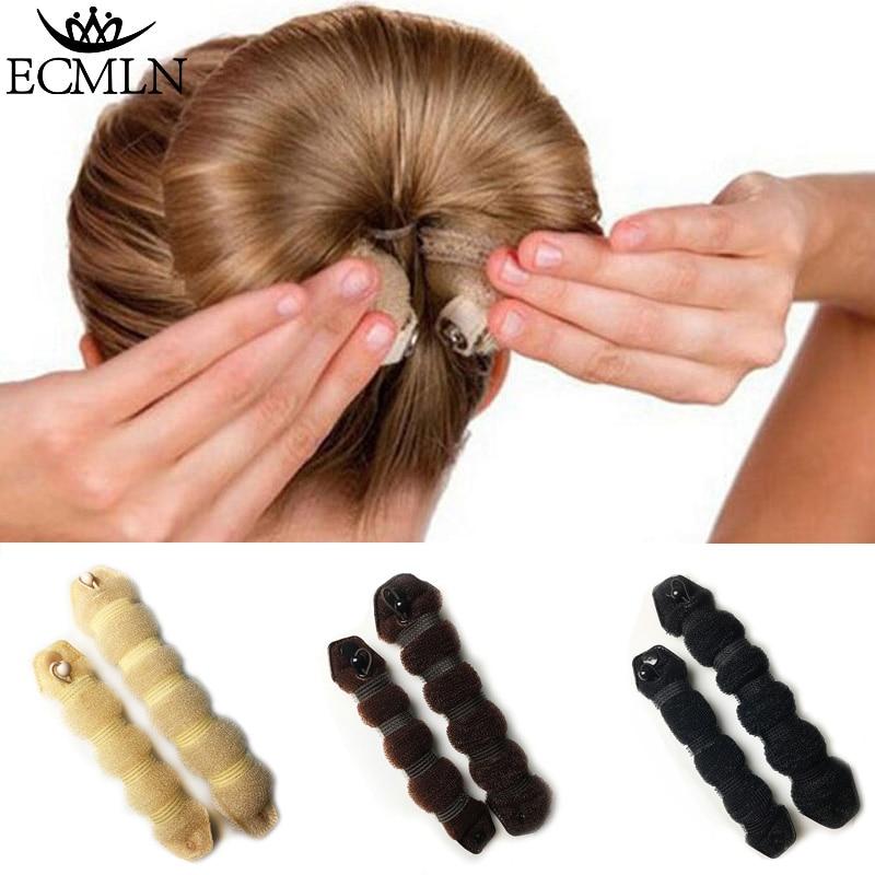 1 Set Women Girl Magic Style Hair Styling Tools Buns Braiders Curling Headwear Hair Rope Hair Band Accessories