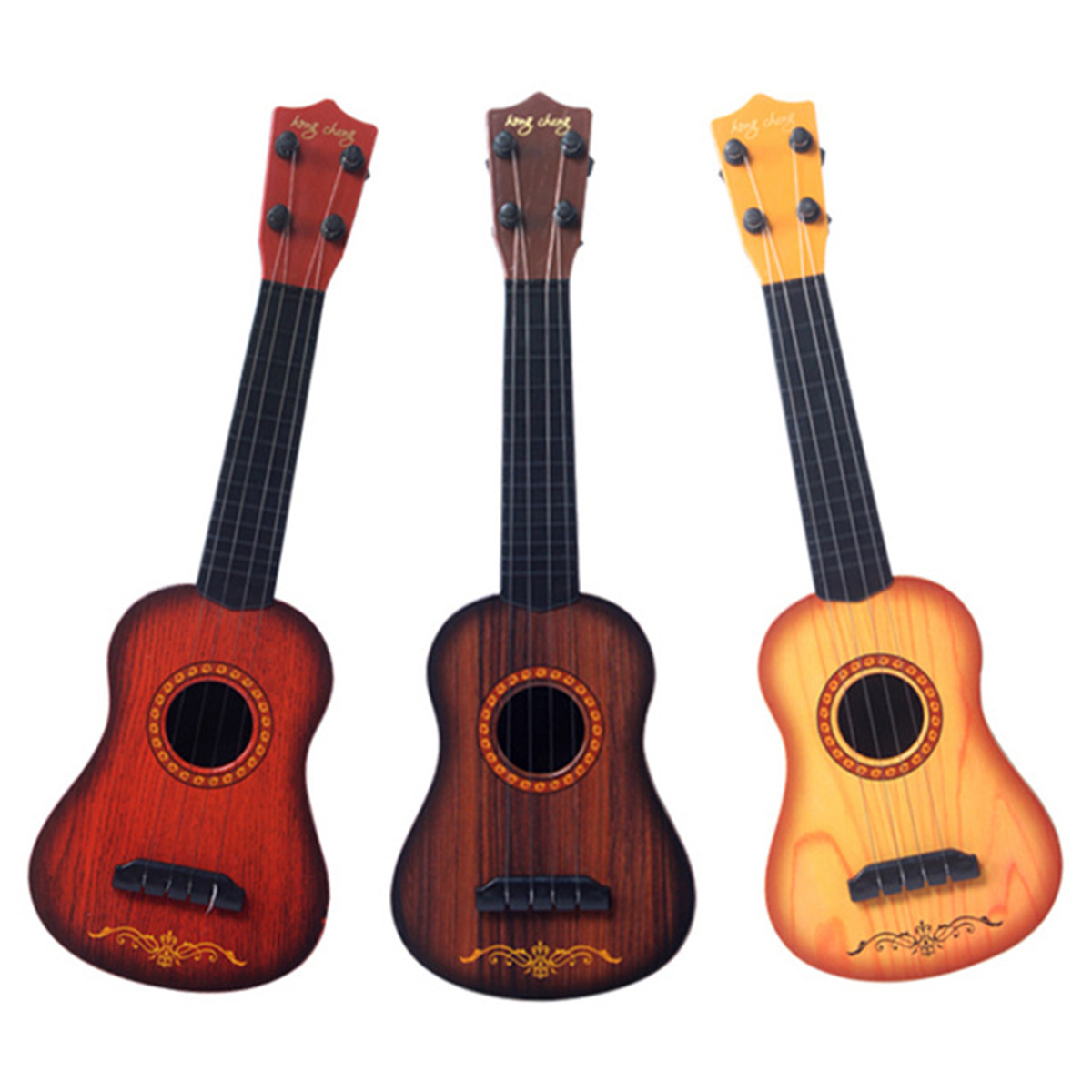 17 Inch Children Educational Plastic Ukulele Musical Guitar Four Strings Hawaiian Guitar Musical Instruments for Kids toy Gift