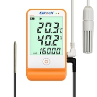 Temperature and Humidity LCD USB Temp Data Logger Recorder Monitor Big External Sensors 16000 Points Detector GSP 6