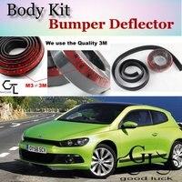 Bumper Lip Deflector Lips For Volkswagen VW Scirocco 2005~2015 Front Spoiler Skirt For TopGear Cars Tuning / Body Kit / Strip