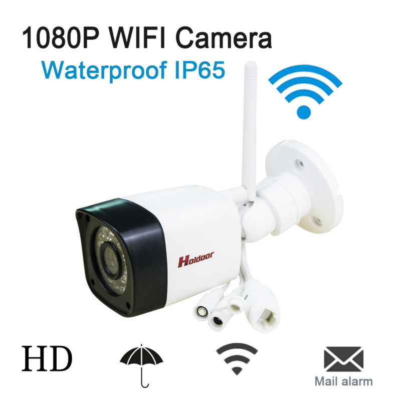 Android IOS Waterproof IP65  WIFI IP Camera P2P 1080p Wireless ONVIF 2.0.4 HD IR night vision  P2P with Micro Card Slot, surveil cheapest home smart ptz wireless ip camera ip camera wifi hd ir sd card 720p onvif p2p for android ios pc remote monitoring