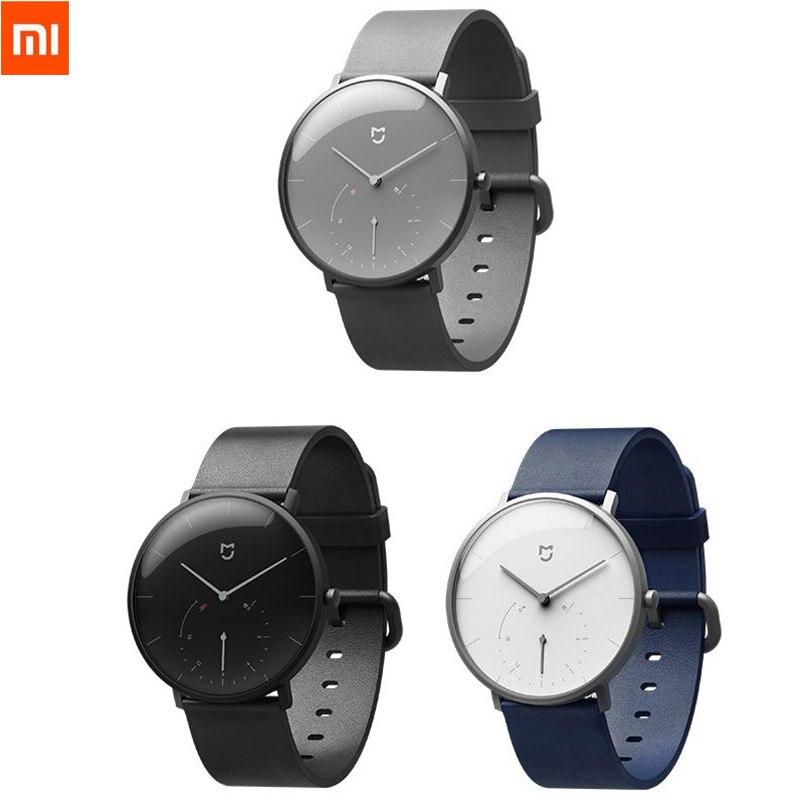 Origine Xiao mi mi jia montres à quartz Étanche Double Cadran avec Alarme Sport Capteur BLE4.0 Sans Fil Connecter à Smart mi Maison APP