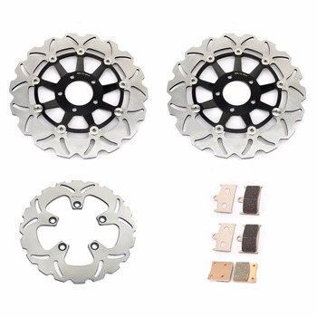 BIKINGBOY Front Rear Brake Discs Disks Rotors Brake Pads For Suzuki RF 900 1200 Bandit 96-99 GSF 1200 Naked Bandit 1996-2000 image