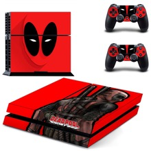 New Deadpool Whole Body Vinyl Skin Sticker Decal Cover for PS4 Playstation 4 Console and 2 controller