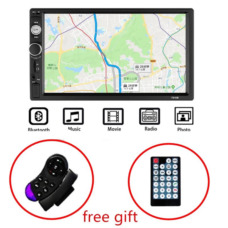 Autoradio 2 Din Autoradio 7 Pouces HD lecteur multimédia 2DIN écran tactile Auto audio pour voiture Stéréo MP5 Bluetooth USB TF FM Caméra