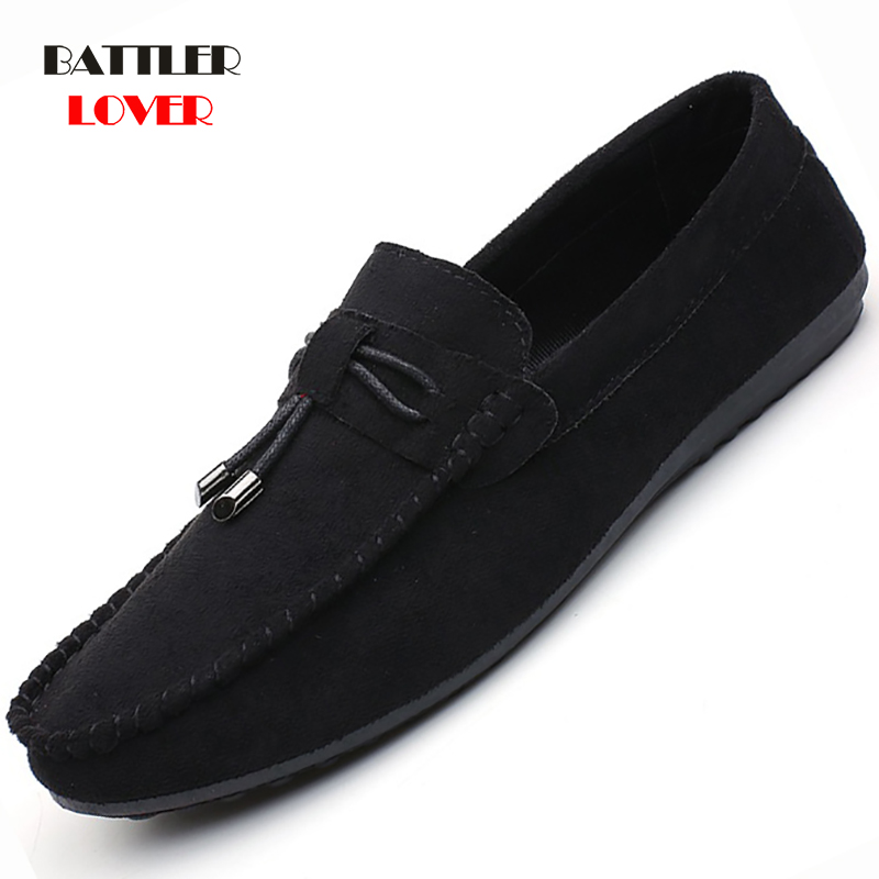 Fashion Handmade Tassels Summer Style Soft Moccasins Men Loafers High Quality   Suede     Leather   Shoes Men Flat Gommino Driving Shoes